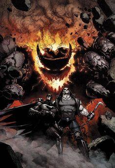 Liga da Justiça da América: Batman & Lobo de Doug Mahnke.