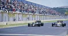 1986 GP Espanha - Ayrton Senna (Lotus 98T) vence Nigel Mansell (Willians FW11) por somente 0.014 s