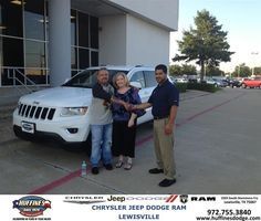 https://flic.kr/p/xti87M | #HappyAnniversary to Teresa and your 2014 #Jeep #Grand Cherokee from Hamed Awadi at Huffines Chrysler Jeep Dodge Ram Lewisville! | www.deliverymaxx.com/?utm_source=FlickR&utm_medium=Be...