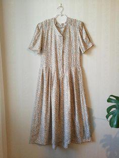 80's romantic maxi summer dress  #summerdress #80s #vintage #mididress #floral #vintageclothing