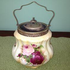 Antique English biscuit jar | antique: biscuit jars/tins | Pinterest