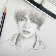v fanart bts fanart cosas para dibujar, dibujos - v drawing Fanart Bts, Taehyung Fanart, Bts Taehyung, Bts Jimin, Kpop Drawings, Art Drawings Sketches, Pencil Drawings, K Pop, Film Disney