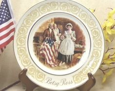 Vintage 1973 AVON Betsy Ross Collector Plate, Patriot Flagmaker, by James S Avati, Enoch Wedgwood (Tunstall) Ltd., England,  #VB7095 by ckdesignsforyou. Explore more products on http://ckdesignsforyou.etsy.com