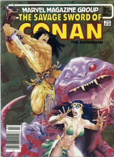 march1984 #Marvel #Comics group savage sword of conan the barbarian magazine #89  from $6.5