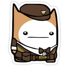 Catguard sticker from Battle Block Theater. Available in tshirts, phone cases, tote bags and more!