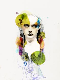 2013 by Raphael Vicenzi, via Behance #figurative #portrait #art #circles