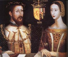 A 16th century dual portrait of the parents of Mary, Queen of Scots: King James V of Scotland (son of Margaret Tudor) and Queen Marie de Guise.