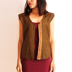 Red Reversible Cotton Vest