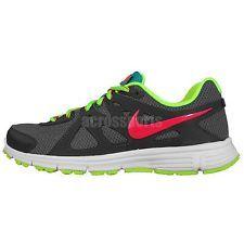 Nike Wmns Revolution 2 II Grey Green Pink 2014 Womens Jogging Running Shoes
