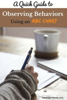 A quick guide to observing behaviors using an ABC Chart