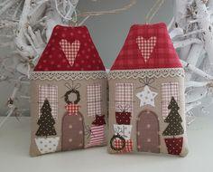 FABRIC CHRISTMAS HOUSES