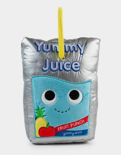 Aloha from Yummy World's newest and fruitiest plush friend! Always bringing sunshine and good vibes wherever he goes, Jake the Juice Pouch Plush always has a fun idea to bring to the group! Often found surfing the Yummy World waves, his bold perso. Food Pillows, Cute Pillows, Food Plushies, Yummy World, Cute Stuffed Animals, Chocolate Pies, Fruit Punch, Cute Plush, Squishies