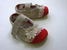 VENTE linge bébé fille chaussures  Mary Jane  par GardenAlley