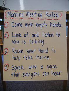 Morning Meeting Rules | ifbowlingwereyou | Flickr