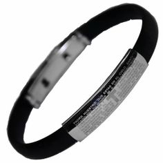 Stainless Steel and Rubber Bracelet With Padre Nuestro Prayer Stylejewelry http://www.amazon.com/dp/B004H2P8SQ/ref=cm_sw_r_pi_dp_o0hRtb02E0QWFFNC