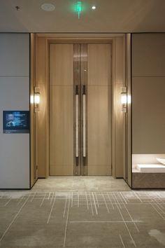 hotel door Creating unique and exclusive design de - hotel Hotel Hallway, Hotel Corridor, Hotel Door, Corridor Design, Hall Interior, Rico Design, House Doors, Hotel Interiors, Entrance Doors