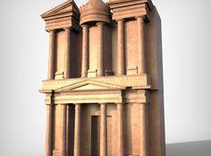 Petra Al Khazneh or The Treasury at Petra free 3D Model by SHUBBAK