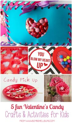5 Fun Valentine's Day Candy Crafts and Activities for Kids