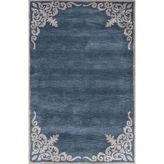 JaipurLiving Timeless Hand-Tufted Blue/Ivory Area Rug Rug Size: