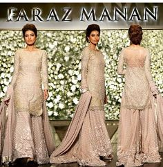 Pink by Faraz Manan Pakistani Couture, Pakistani Wedding Dresses, Pakistani Outfits, Indian Dresses, Ethnic Fashion, Indian Fashion, Women's Fashion, Dulhan Dress, Desi Clothes