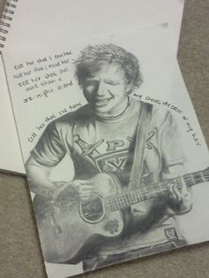 Ed Sheeran sachis art~ this is just too perfect!