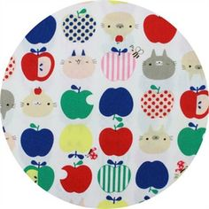 31.Japanese Import, CANVAS, Purrfect Apples Multi