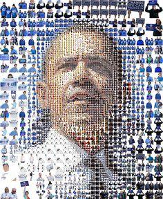 Chuck Close Style Obama Portrait