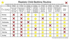 Realistic Bedtime Routine Chart for Toddlers and Kids Bedtime Chart, Bedtime Routine Chart, Laughter The Best Medicine, School Routines, Charts For Kids, Cool Kids, Kids Fun, Fun Facts, Parenting