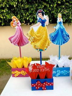 Princess Ariel Belle Jasmine Snow White Cinderella Sleeping Beauty birthday handcrafted wood centerpieces birthday themed event SET OF 6 Superhero Cupcake Toppers, Disney Cake Toppers, Princess Cupcake Toppers, Princess Centerpieces, Wood Centerpieces, Birthday Party Centerpieces, Disney Party Decorations, Disney Princess Birthday Party, Snow White Birthday