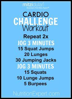 Cardio Challenge Home Workout!