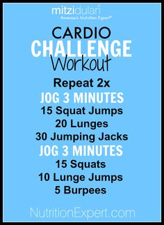 Cardio Challenge Home Workout!