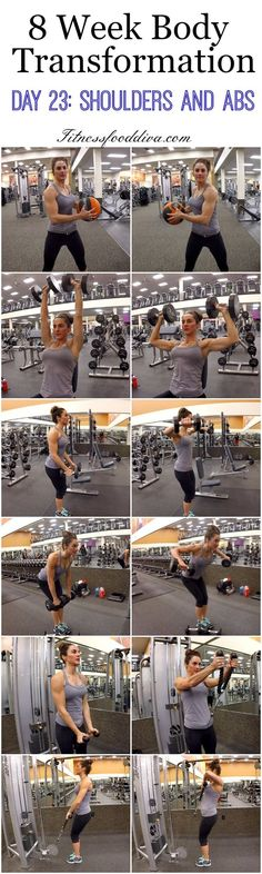 8 Week Body Transformation: Day 23 Shoulders and Abs.