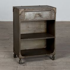 Pop Rivet Industrial Nightstand - A masterful middle-ground between the classical and the contemporary, the Sarnath Nightstand complements any metal bed frames and headboards and m...