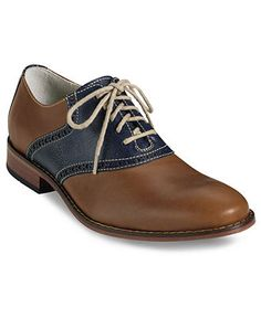 Cole Haan Shoes, Colton Saddle Oxfords with Nike Air Cushion - Mens Lace-Ups & Oxfords - Macy's