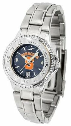 Syracuse Orange SU NCAA Womens Steel Anochrome Watch by SunTime. $86.95. Showcase the hottest design in watches today! The functional rotating bezel is color-coordinated to compliment your favorite team logo. The Competitor Steel utilizes an attractive and secure stainless steel band.The AnoChrome dial option increases the visual impact of any watch with a stunning radial reflection similar to that of the underside of a CD. Perceived value is increased with the...