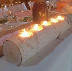 white birch candle holder wedding decor