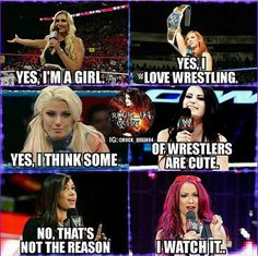 I'v been a wwe fan ever since I was 6 do I plan on stopping hell no! # wwe for life😉💪💟💟 Wrestling Quotes, Watch Wrestling, Wrestling Divas, Women's Wrestling, Wrestling Outfits, Wwe Quotes, Golf Quotes, Becky Wwe, Wwe Pictures