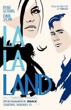 LA LA LAND starring Ryan Gosling & Emma Stone   Special Engagements in IMAX starting on January 13, 2017