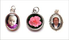 Medallas pequeñas con tu foto o imagen preferida.