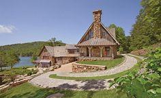 casa de pedra e madeira