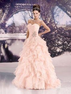 Robe de mariée rose poudré Neuve taille 38