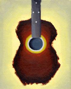guitar painting by Shane Weiser Acoustic Guitar Art, Hey Joe, Guitar Painting, Art Music, Art Prints, Guitars, Paintings, Mom, Movies
