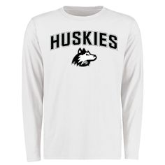 Northern Illinois Huskies Proud Mascot Long Sleeve T-Shirt - White -