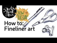 Draw Tip Tuesday: Fineliner Mini-Tutorial  Two art tools? That's all you need to create drawings with depth and shadows and fine details.Learn  how you can make an elaborate-looking sketch with simple techniques and two tools. Skoolsblog.com