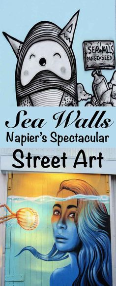Sea Walls - Murals for Oceans - spectacular street art in Napier New Zealand with a message from our oceans! This stunning art is more than just pretty...