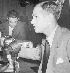 """House Un-American Activities Committee Hearings"" - ALGER HISS at his first hearing.  -- August 5, 1948"