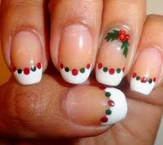 Looking for a unique nail art design this Christmas? Here is a fine collection of best Christmas nail art designs & new year eve nail art ideas. Cute Christmas Nails, Christmas Manicure, Christmas Nail Art Designs, Holiday Nail Art, Xmas Nails, Winter Nail Art, Winter Nails, Christmas Diy, Christmas Design