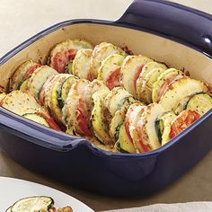 Summer Vegetable Stack  - The Pampered Chef®  Did you plant a garden this year?  Here's a tasty recipe for those veggies!