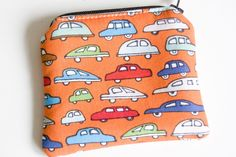 Mini-Sized Fabric Zippy Coin/Change Purse - Kids - Ladies - Gift- Cars by ToBagsFromStitches on Etsy