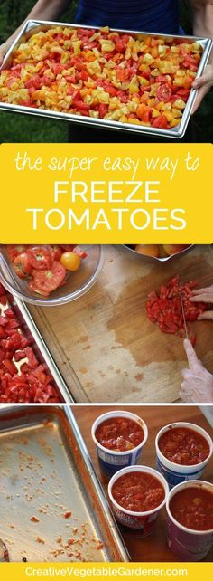 Don't waste your extra garden tomatoes! This method is quick and easy and will keep you stocked in tomatoes all winter long.